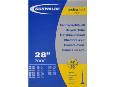 Schwalbe slange 700x18-25c X-Light med 60 mm. Racer ventil SV20