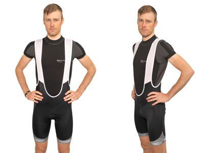 XTreme X-Anatomic - Carbon bib shorts med pude - Sort