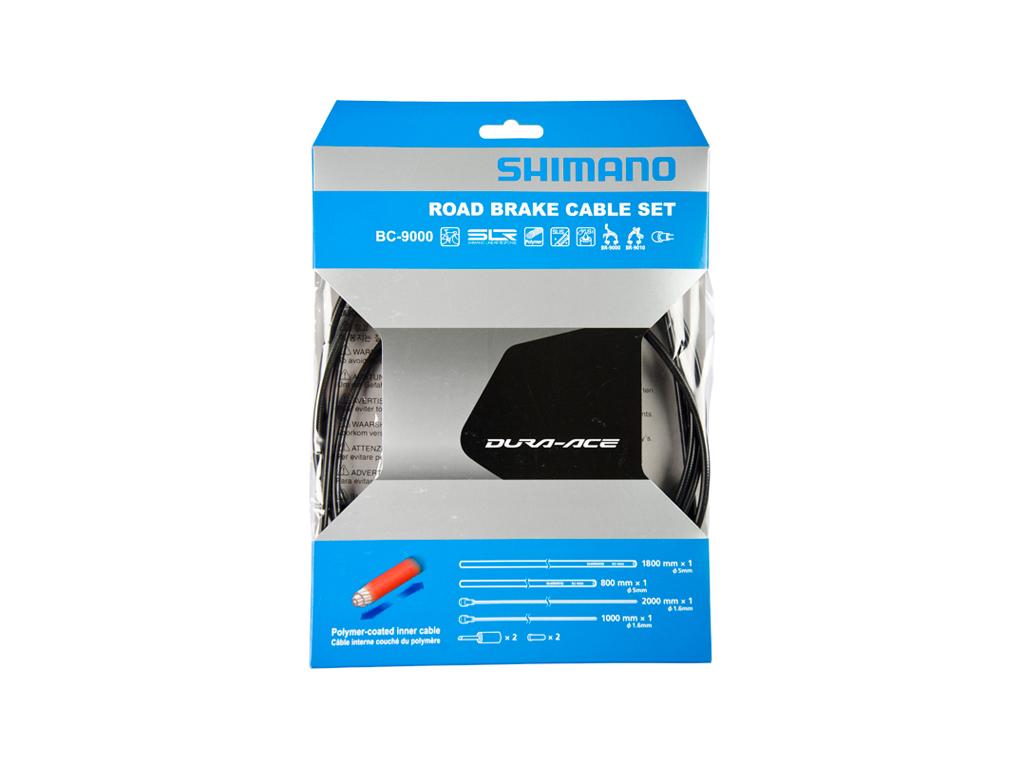 Image of   Shimano Dura Ace Bremsekabelsæt - Road Polymer - For-og bagbremsekabel komplet - Grå