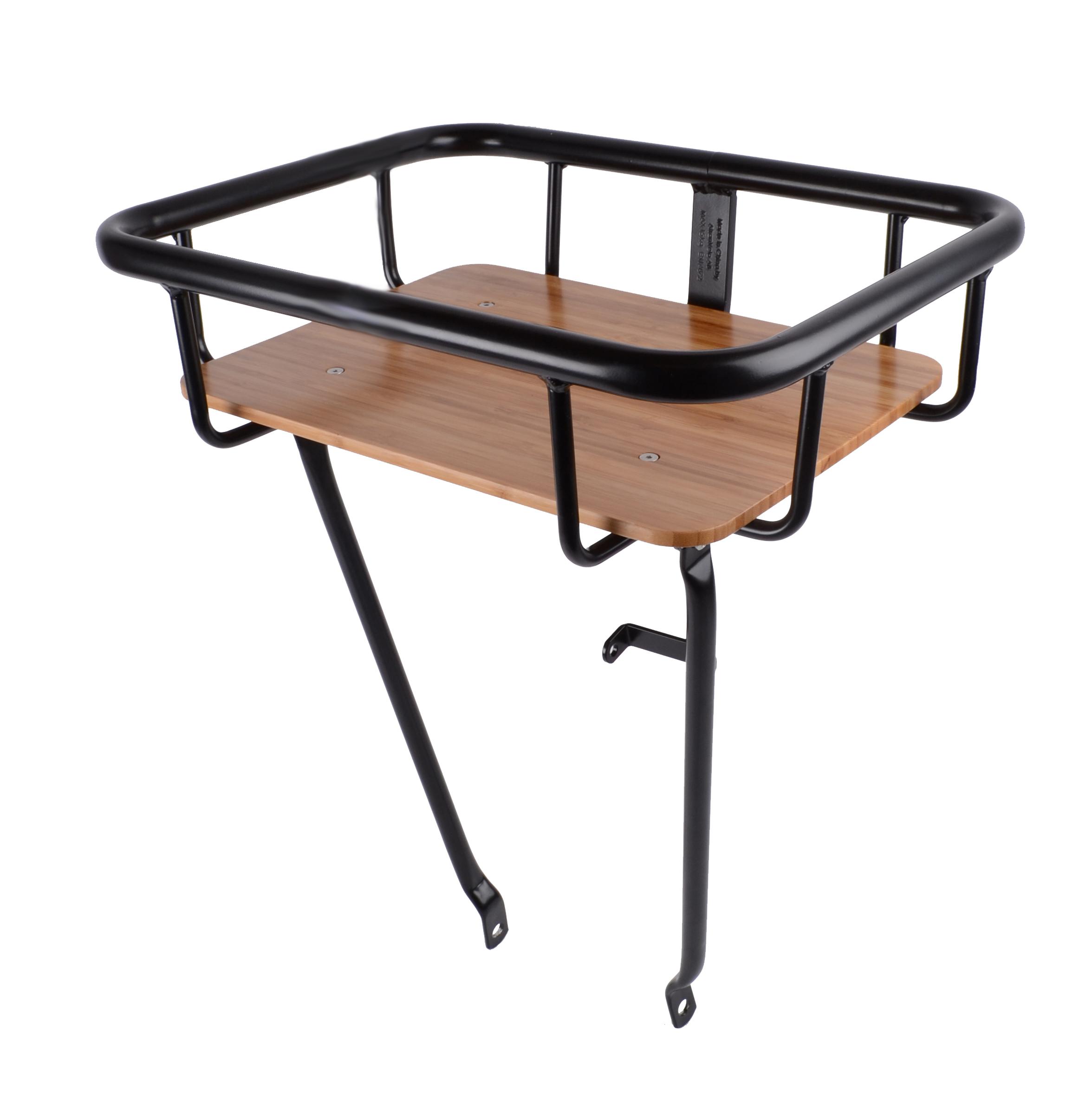Atran Cargo Jumbo Basket - Forbagagebærer med træbund - Sort   Rear rack