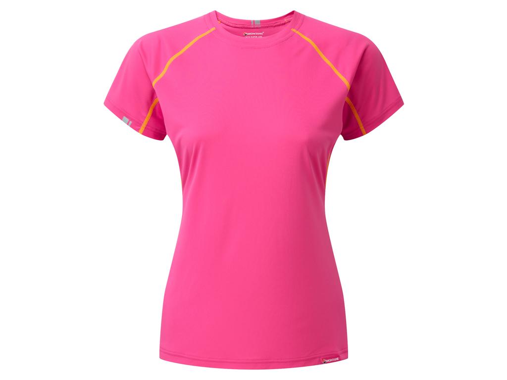Montane Womens Sonic T-Shirt - Vandrer T-Shirt Dame - Pink - 42 thumbnail