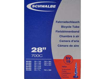 """Schwalbe slange 700x38-62c & 27/29""""er med Racer ventil SV19"""