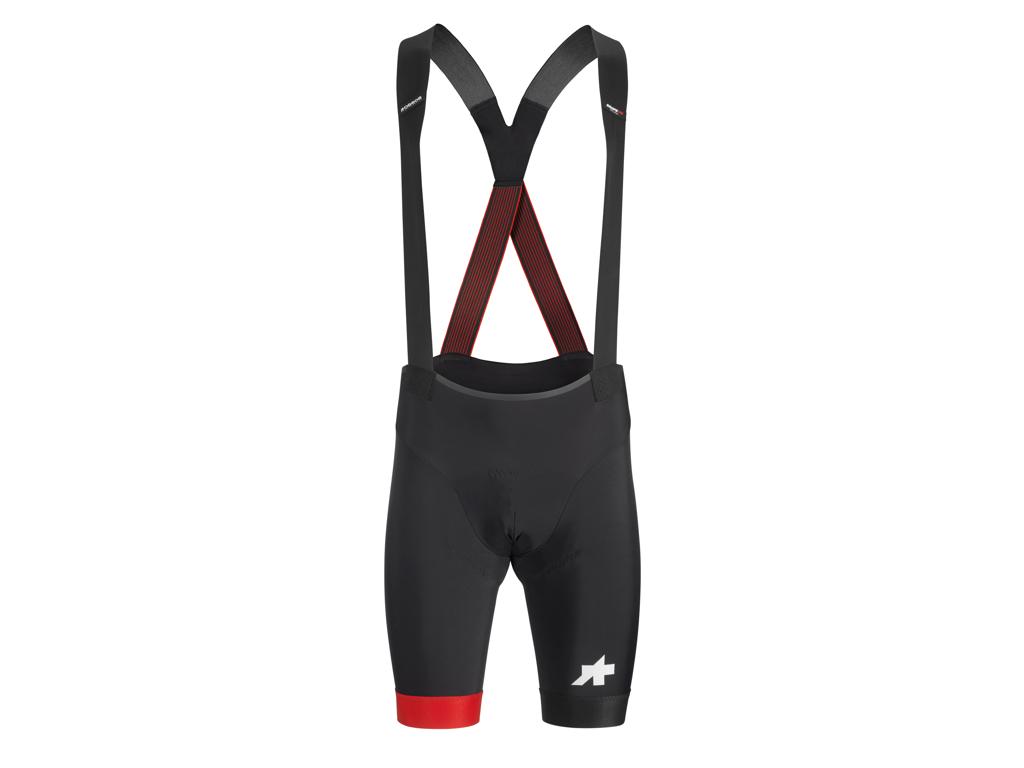 Assos Equipe RS Bib Shorts S9 - Cykelshorts m. pude - Sort/Rød - Str. M thumbnail
