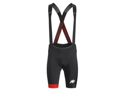 Assos Equipe RS Bib Shorts S9 - Cykelshorts m. pude - Sort/Rød
