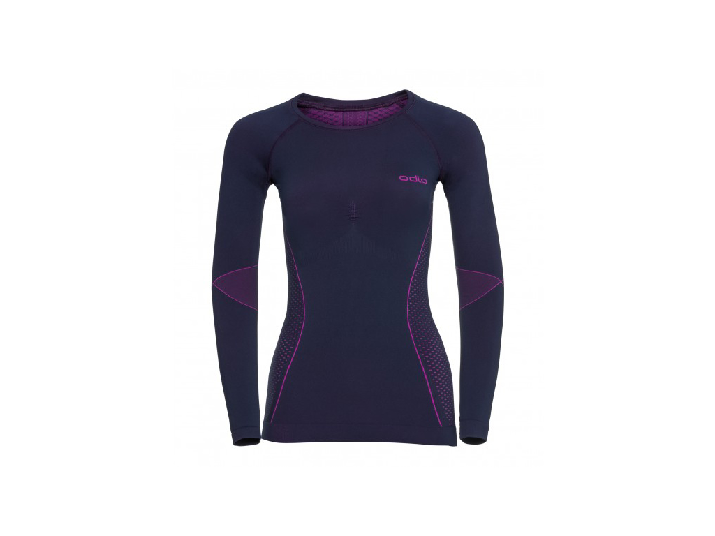 Odlo - Evolution Warm Shirt Crew Neck - Dame - Lilla/Pink