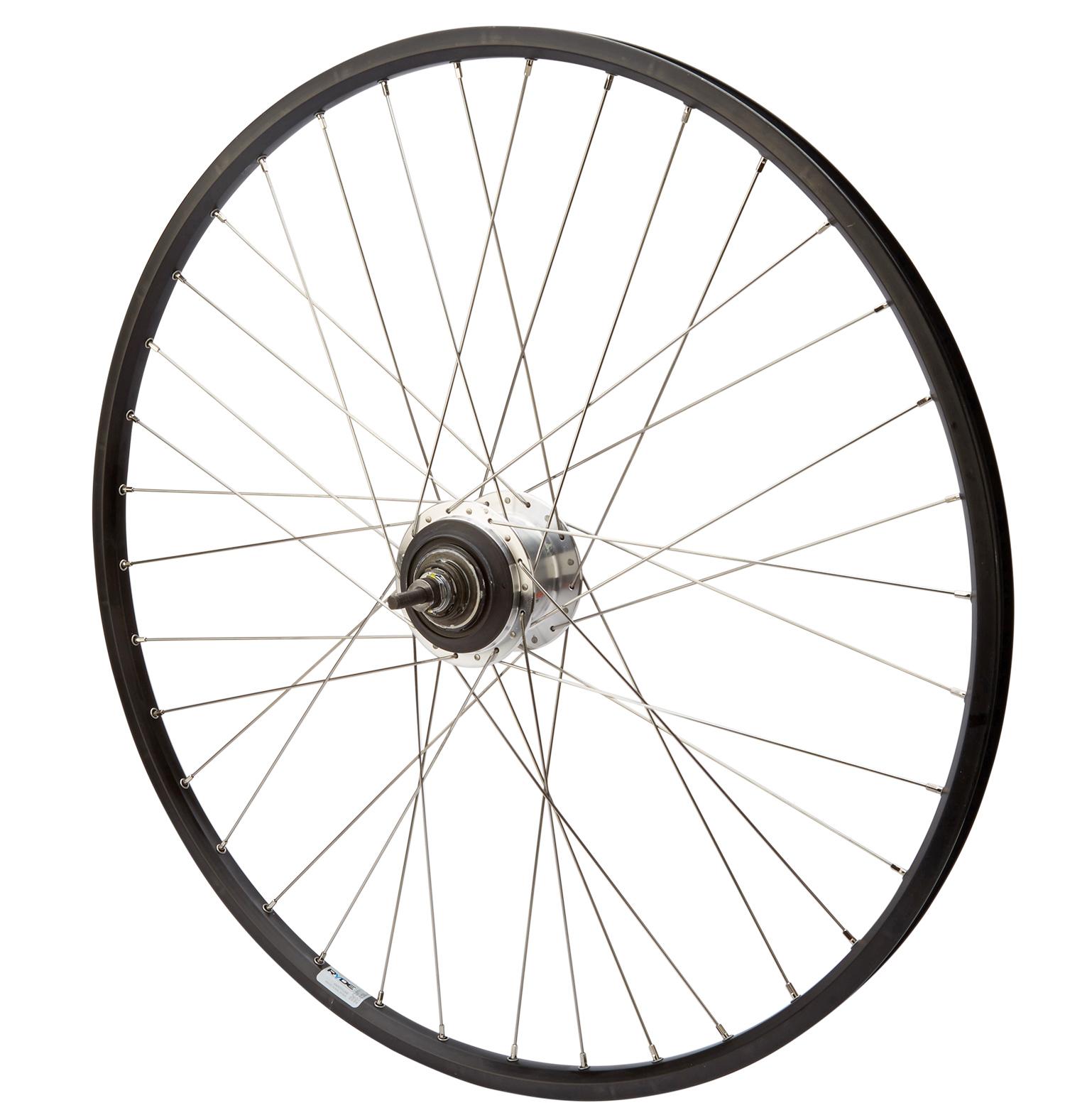 Baghjul med shimano nexus 7 gear til rullebremse sort Ryde Zac19 fælg   Rear wheel
