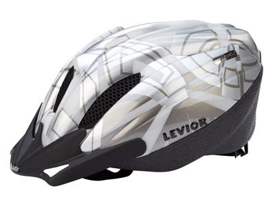 Levior cykelhjelm Flitzi - Sølv-hvid