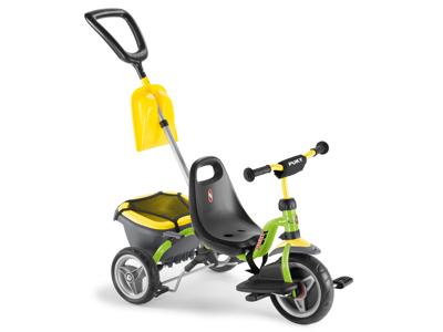 Puky Cat 1 SP - Tricykel - Trehjulet med lad og skubbestang - Grøn