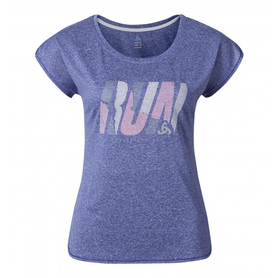 Odlo Tebe - Løbe t-shirt - Dame - Lilla | Jerseys