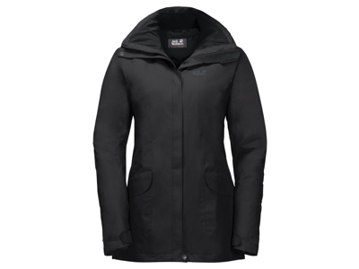 Jack Wolfskin Kiruna Trail JKT Women - Vandtæt damejakke m. for - Sort
