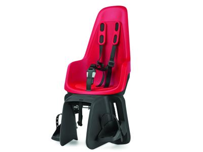 Bobike One Maxi - Cykelstol till pakethållare - Röd