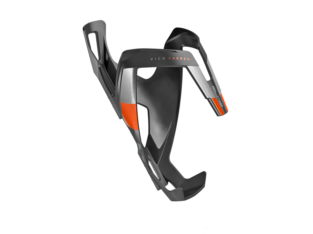 Image of   Elite Vico Carbon - Flaskeholder 23 gram - Matsort/Orange