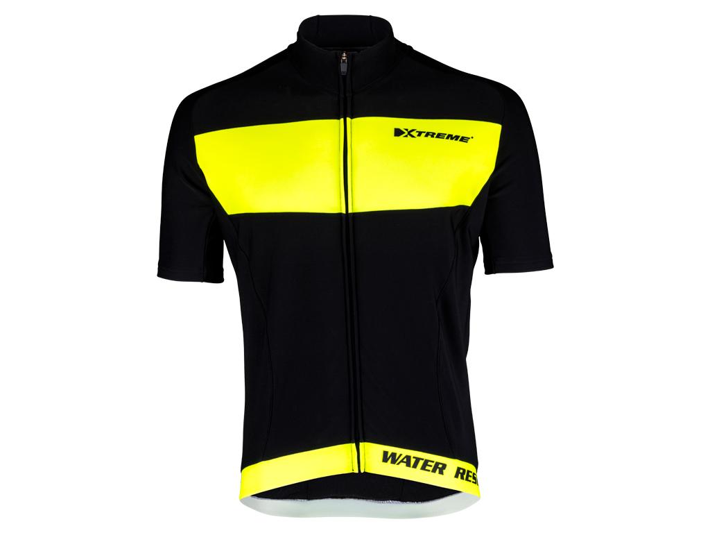XTreme X-Rain - Cykeltrøje med korte ærmer - Sort/Neongul | Jerseys
