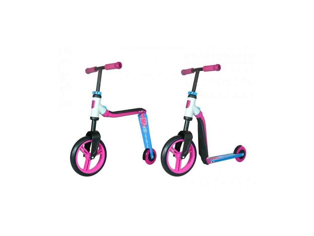 Image of   Scoot&Ride 2 i 1 løbehjul og løbecykel - Highway buddy - Pink/Blå
