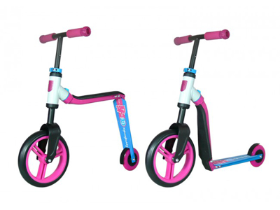 Scoot & Ride - Highwaybaby  - Spark - och Springcykel - 2 i 1 - Rosa/Blå