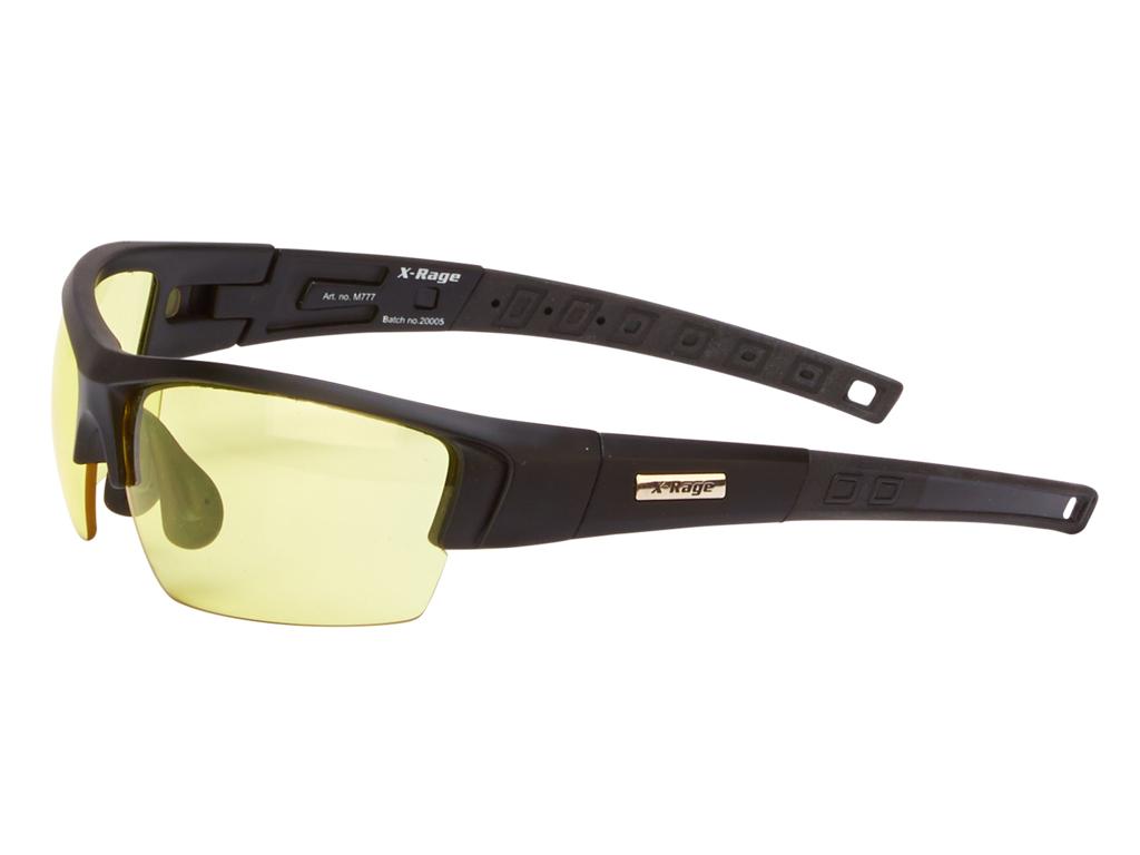 Image of   Smashed By Munks X-Rage - Løbe- og cykelbriller - 3 sæt linser - Matsort