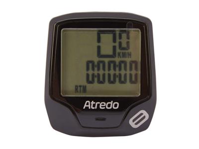 Atredo - M8 - Cykelcomputer med 8 funktioner - Trådløs - Sort