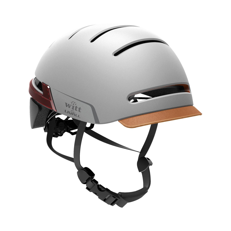 Witt by Livall - Interactive Cykelhjelm med lys og blinklys - Sandstone Grey | Helmets