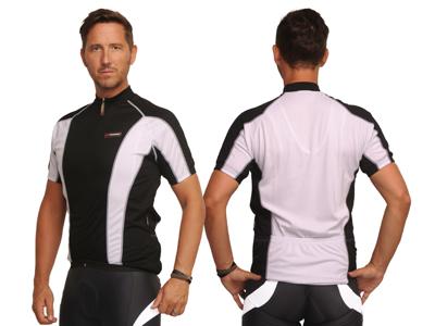 XTreme X-Jens - Cykeltrøje med korte ærmer - Sort/Hvid