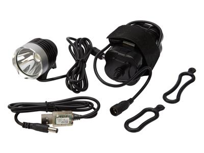 Atredo - MTB Forlygte - 1200 Lumen - USB opladelig - Sort