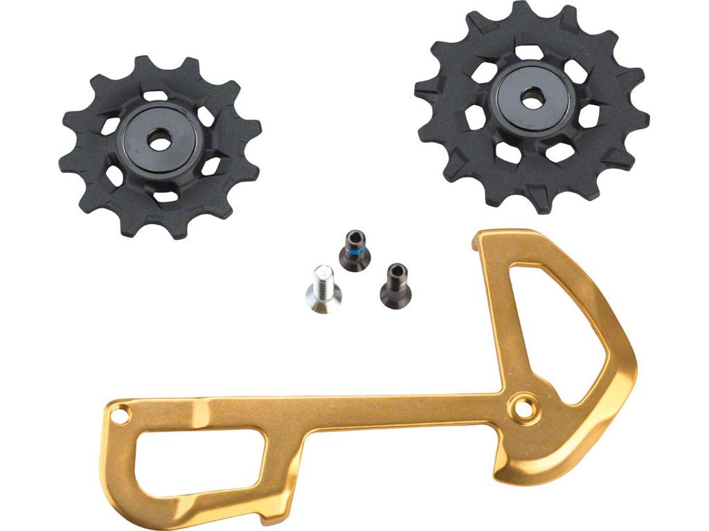 Image of   Sram XX1 Eagle pulleyhjul & inderplade - 12 gear - 12 & 14 tænder - Guld