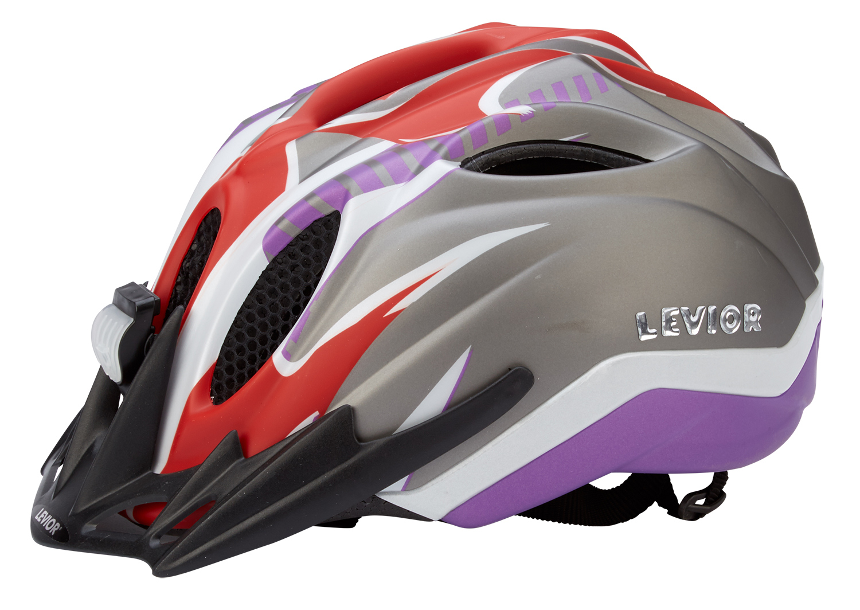 Levior cykelhjelm Primo Refleks Str. 52-58 cm - Rød-Violet-Matt | Helmets