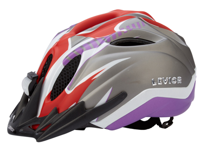 Levior cykelhjälm Primo Reflex Str. 52-58 cm - Röd-Violet-Matt