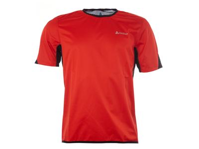 Odlo - Shirt s/s crew neck - Vindtæt løbe t-shirt - Herre - Rød - Str. L