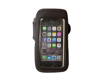 Smartphone Løbearmbånd - 13,5 x 8 cm - Sort