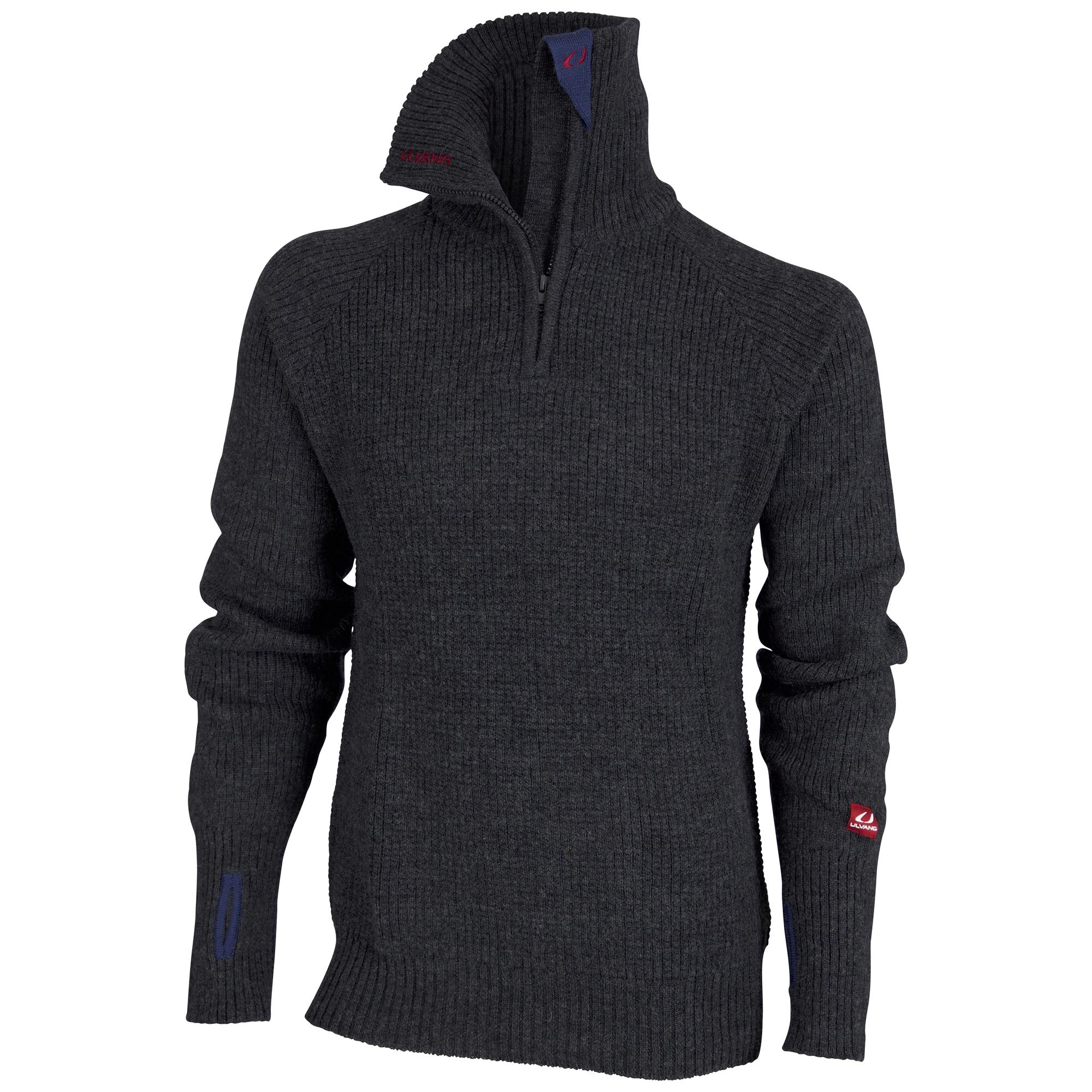 Ulvang Rav Sweater w/zip - Uldtrøje Unisex - Koksgrå | Jackets