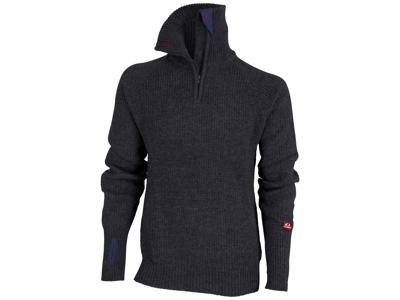 Ulvang Rav Sweater w/zip - Uldtrøje Unisex - Koksgrå
