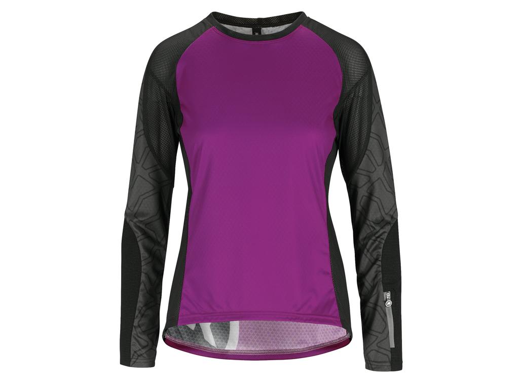 Assos Trail Womens Jersey - Dame MTB cykeltrøje med lange ærmer - Lilla - Str. XLG thumbnail