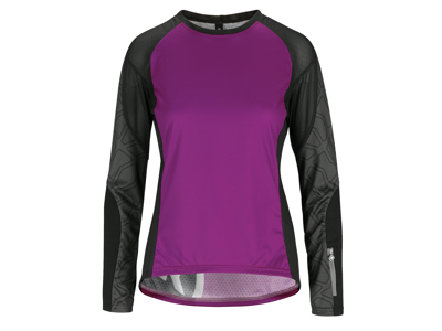 Assos Trail Womens Jersey - Dame MTB cykeltrøje med lange ærmer - Lilla - Str. M