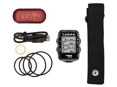 Lezyne Mini GPS HR Loaded - Cykeldator - Bundle med pulsbälte