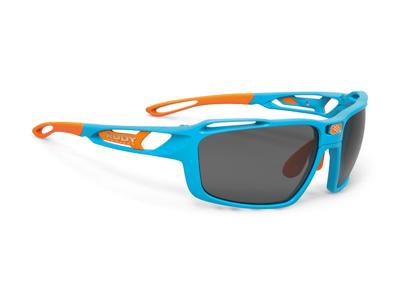 Rudy Project Sintryx - Løbe- og cykelbrille - Smoke linser - Azur Gloss