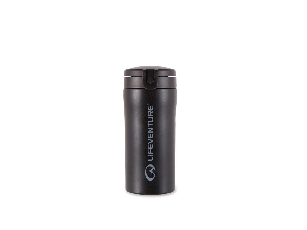 LifeVenture Flip-Top Thermal Mug - Termokop - 0,3 l - Sort thumbnail