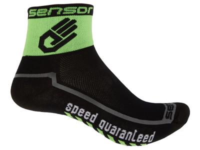 Sensor Race small - Sykkelsokker - Svart / grønn