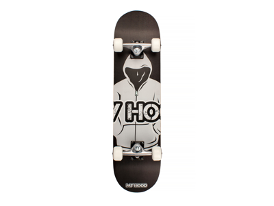 Skateboard My Hood ABEC9 - Hood Black / Grå