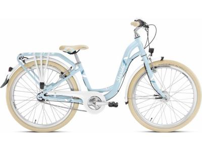 """Puky - Barncykel - Skyride 24-7 Aluminium classic light - 24"""" med 7 växlar - Azurblå"""