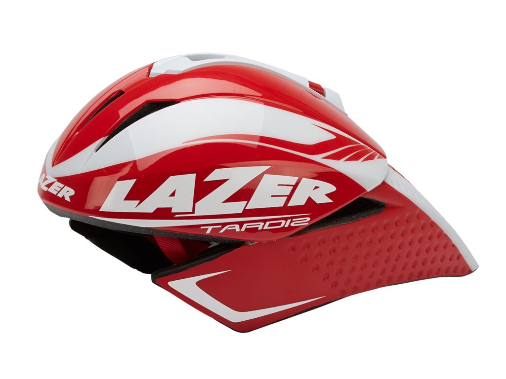 Lazer - Cykelhjelm - Tardiz Time Trial - Rød/hvid