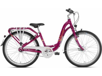 """Puky Skyride 24-7 Alu light - Pigecykel - 24"""" med 7 gear - Kirsebær"""