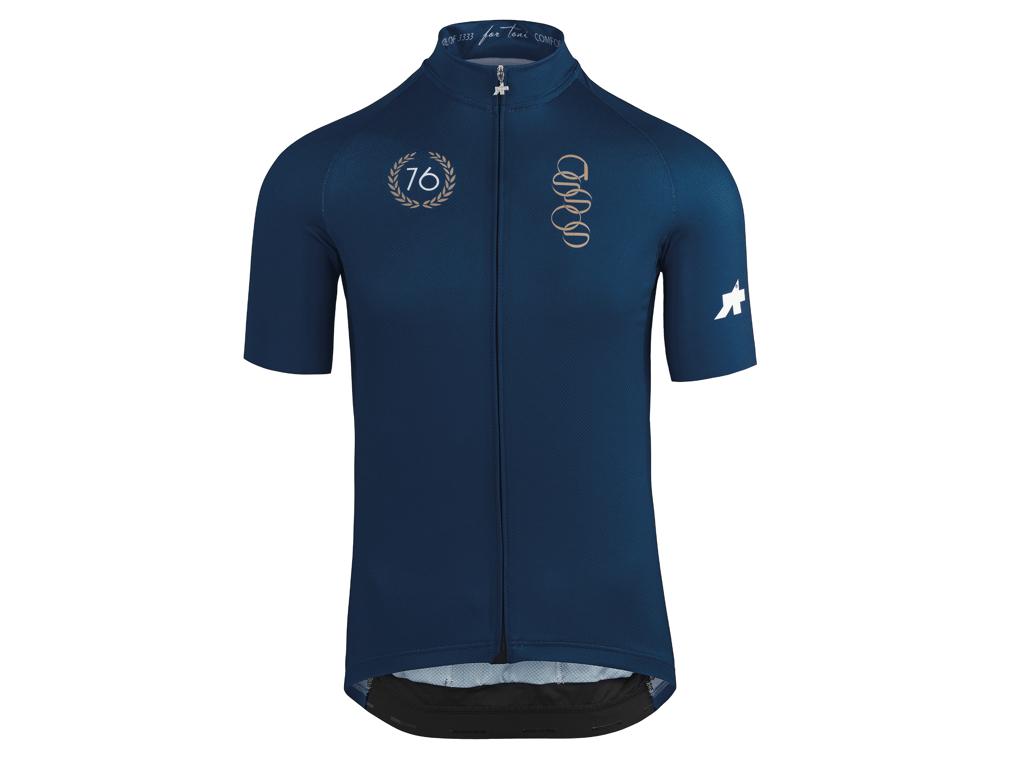 Image of   Assos ForToni Short Sleeve Jersey - Cykeltrøje - Blå - Str. S