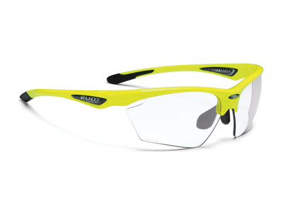 Rudy Project Stratofly - Løbe- og cykelbrille - Photoclear linser - Fluo Gul