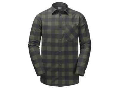 Jack Wolfskin Red River Shirt - Skjorte herre - Tern Grøn