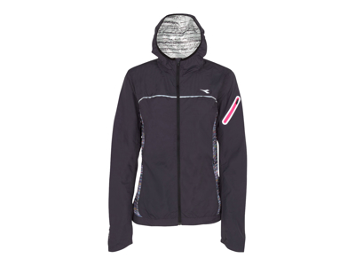 Diadora - L. Wind Jacket Win - Løbejakke - Dame - sort