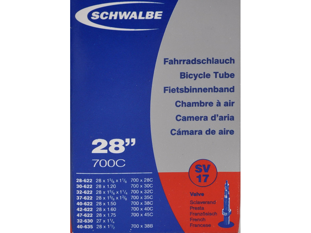 Schwalbe slang 700x28-45c med Racer ventil SV17