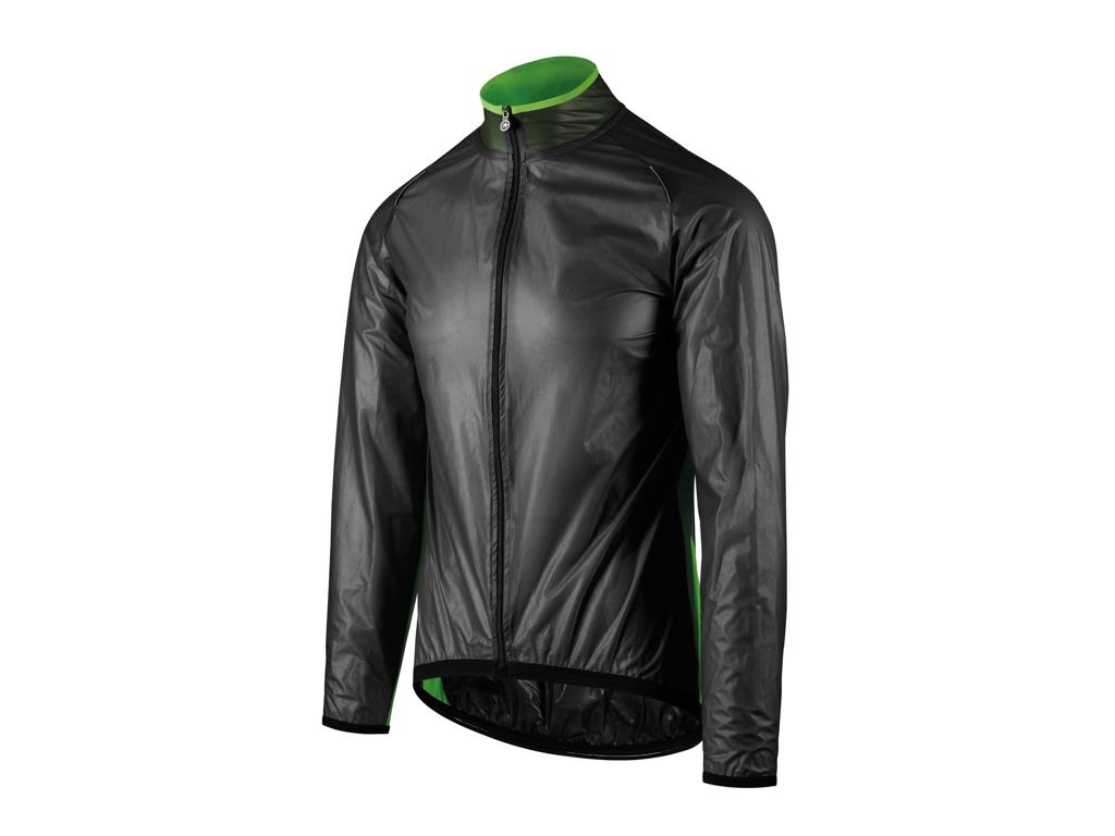 Image of   Assos Mille GT Climajacket - Cykel regnjakke - Sort/grøn - Str. L