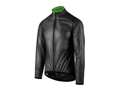 Assos Mille GT Climajacket - Cykel regnjakke - Sort/grøn