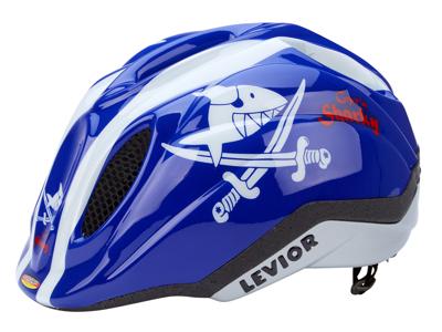 Levior cykelhjelm Primo Licens Str. 46-51 cm - Shark Blå