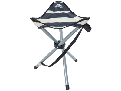 Trespass Ritchie - Foldbar camping-mini-stol - Navy Stripe